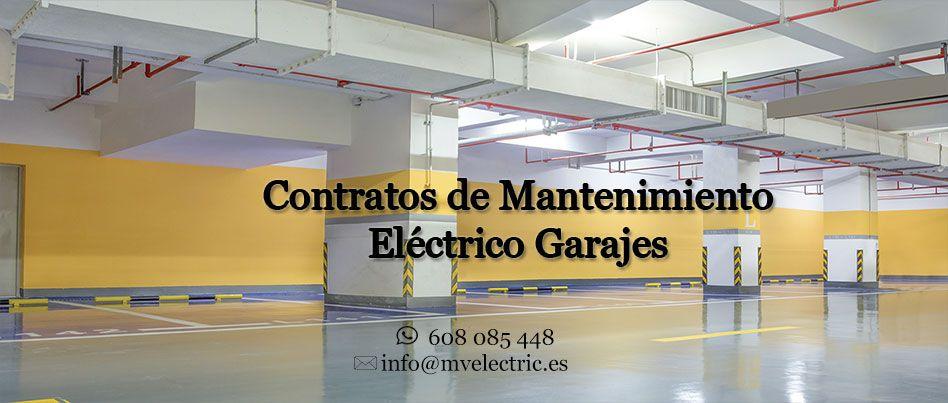 contratos mantenimientos electricos garajes en murcia
